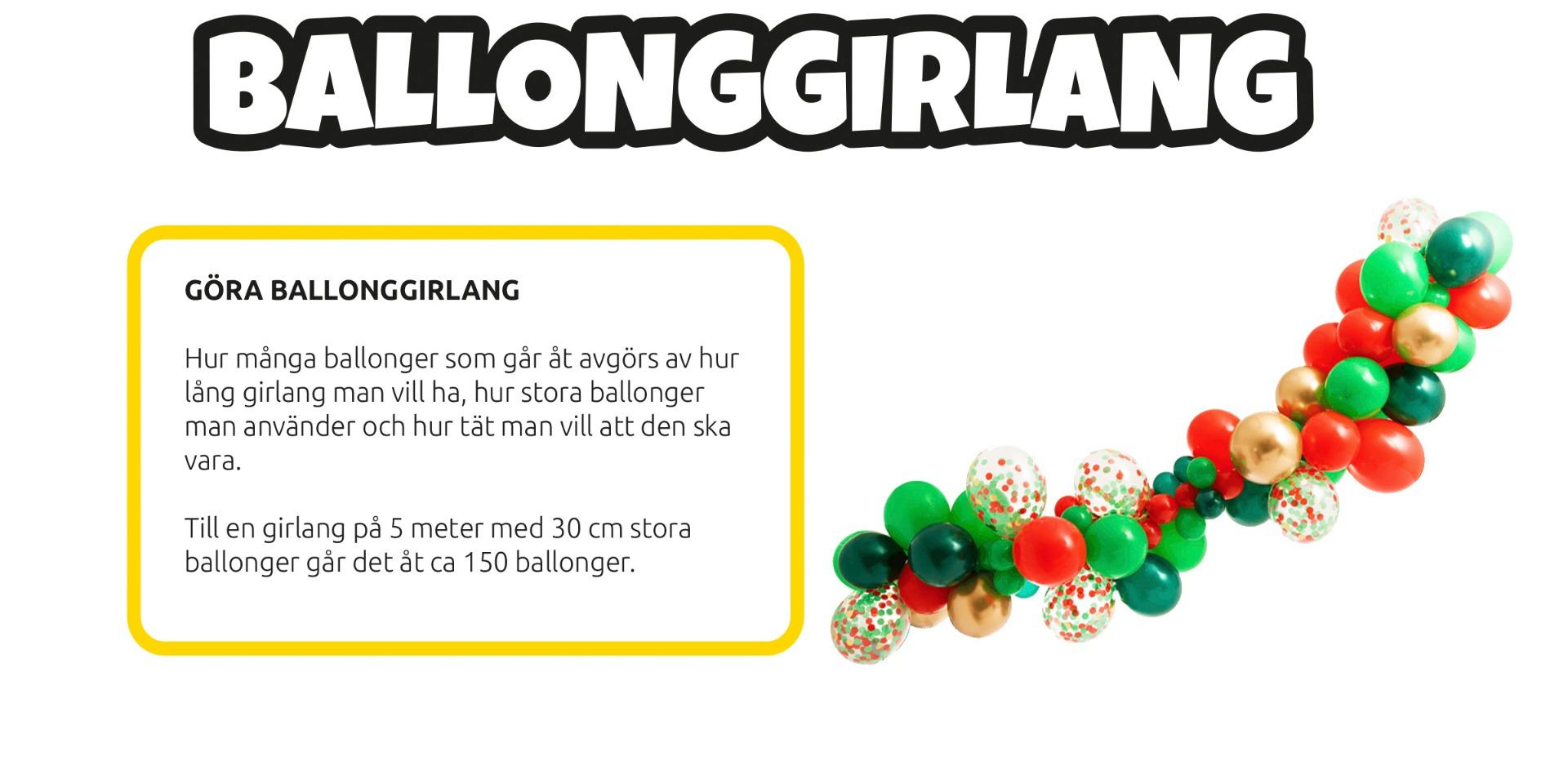 Ballongbåge jul