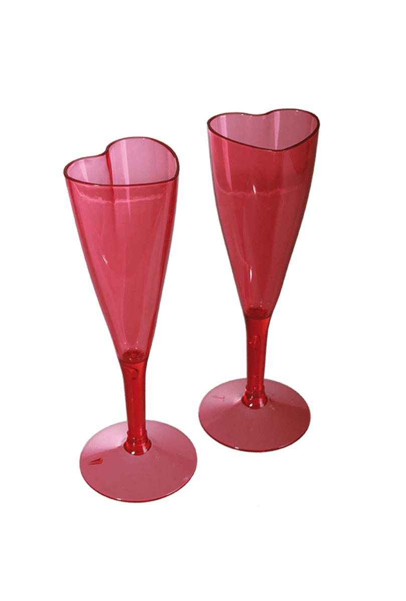 Champagneglas, Hjärtformade