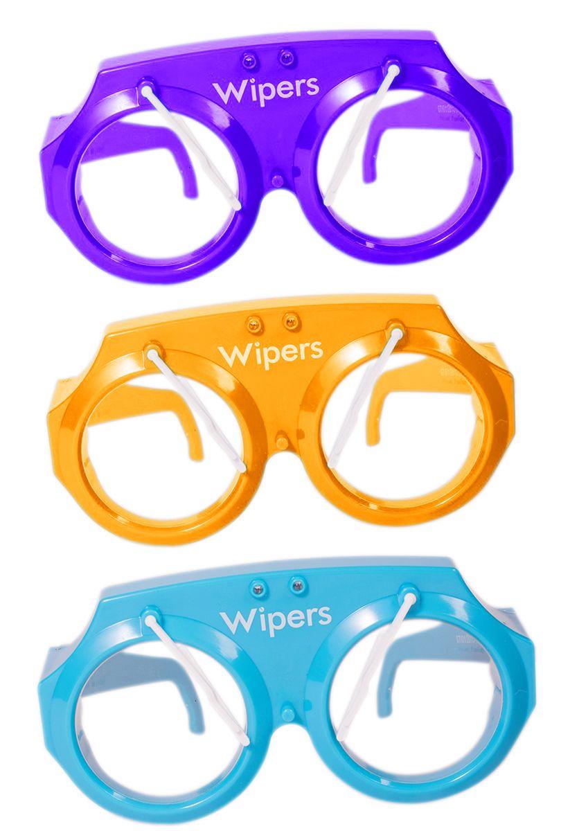 Glasögon med vindrutetorkare