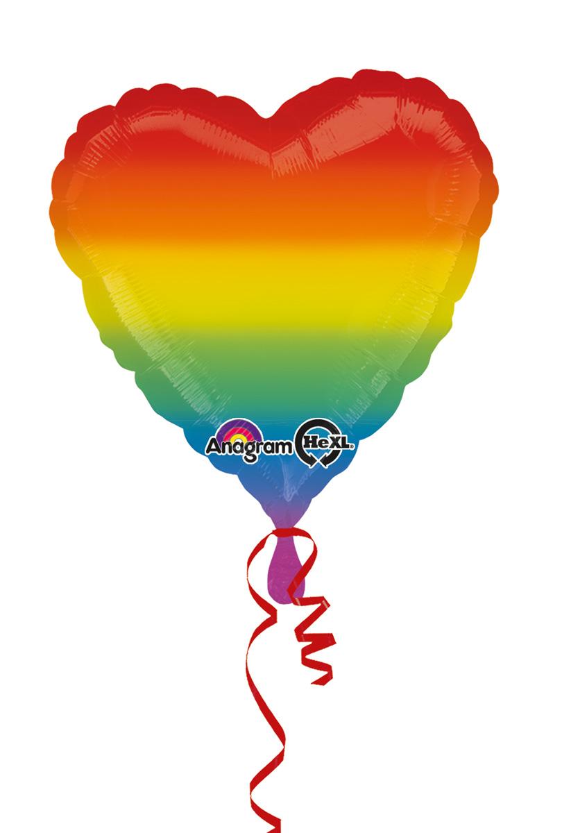 Folieballong, Regnbågshjärta