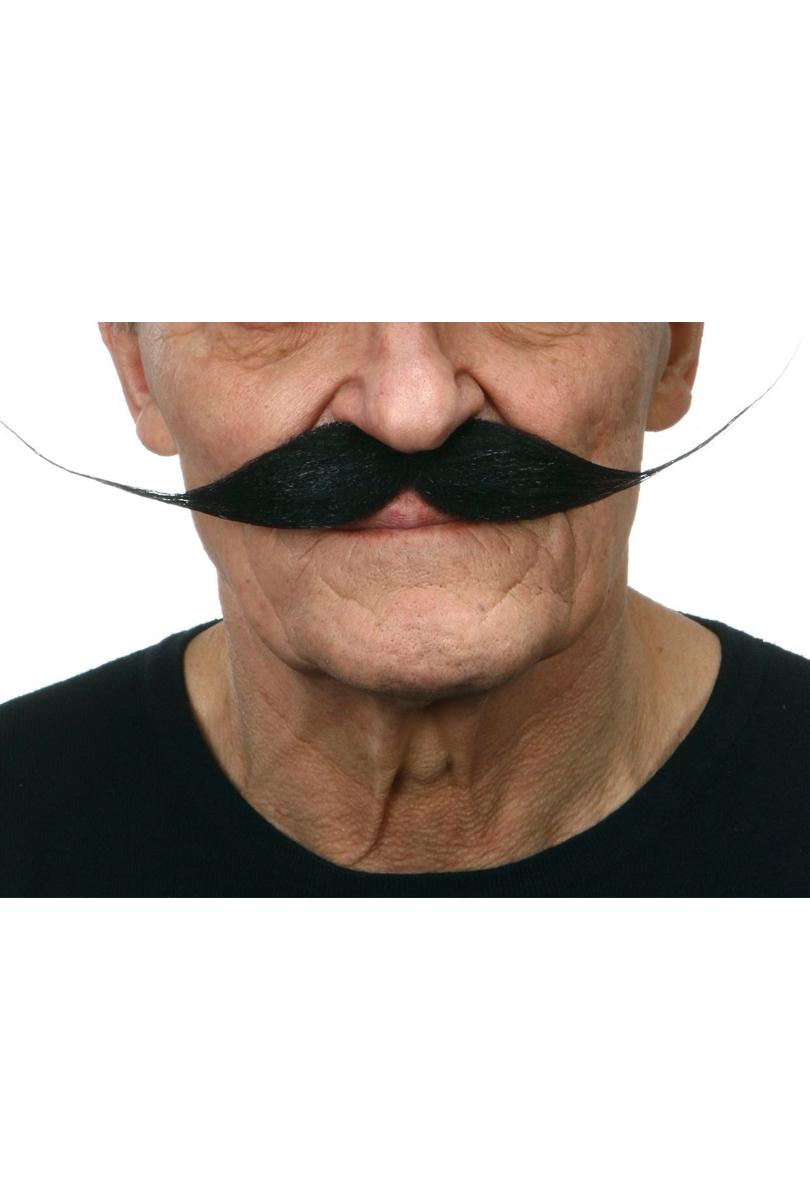 Mustasch Vaxad, svart