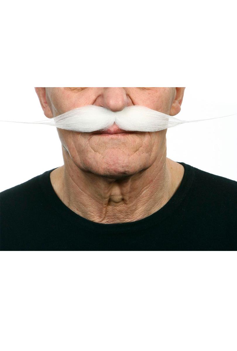 Mustasch Vaxad, vit
