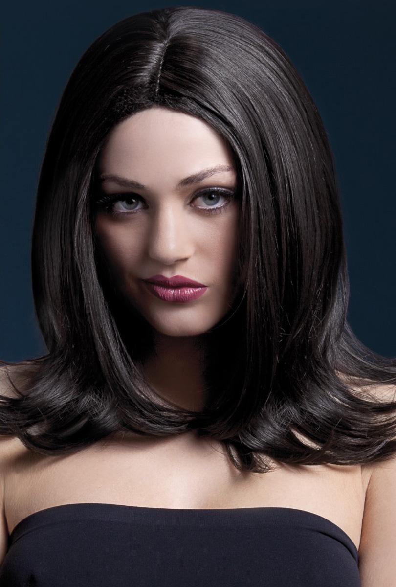 Peruk Sophia, brun