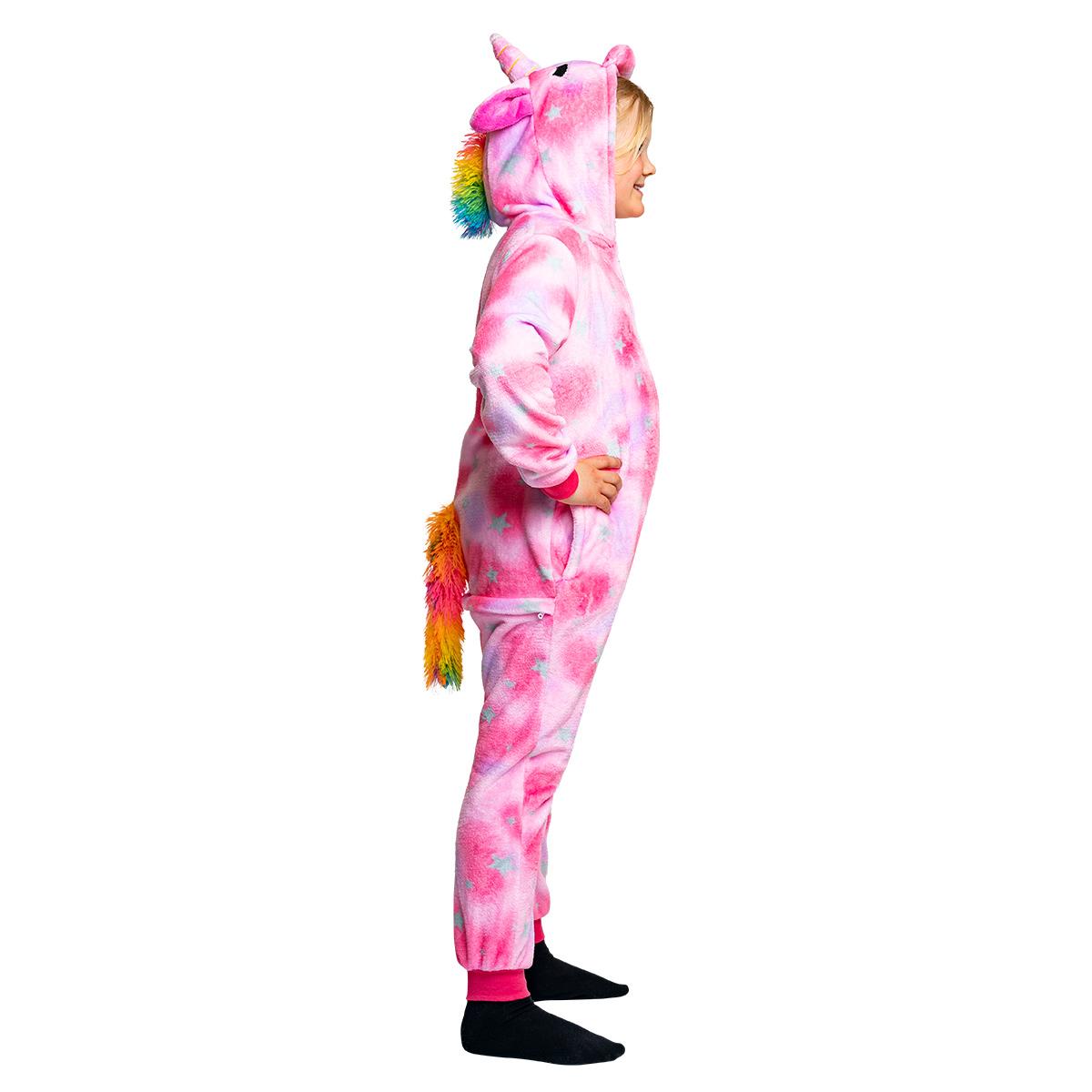 Barndräkt, enhörning rosa 110/116