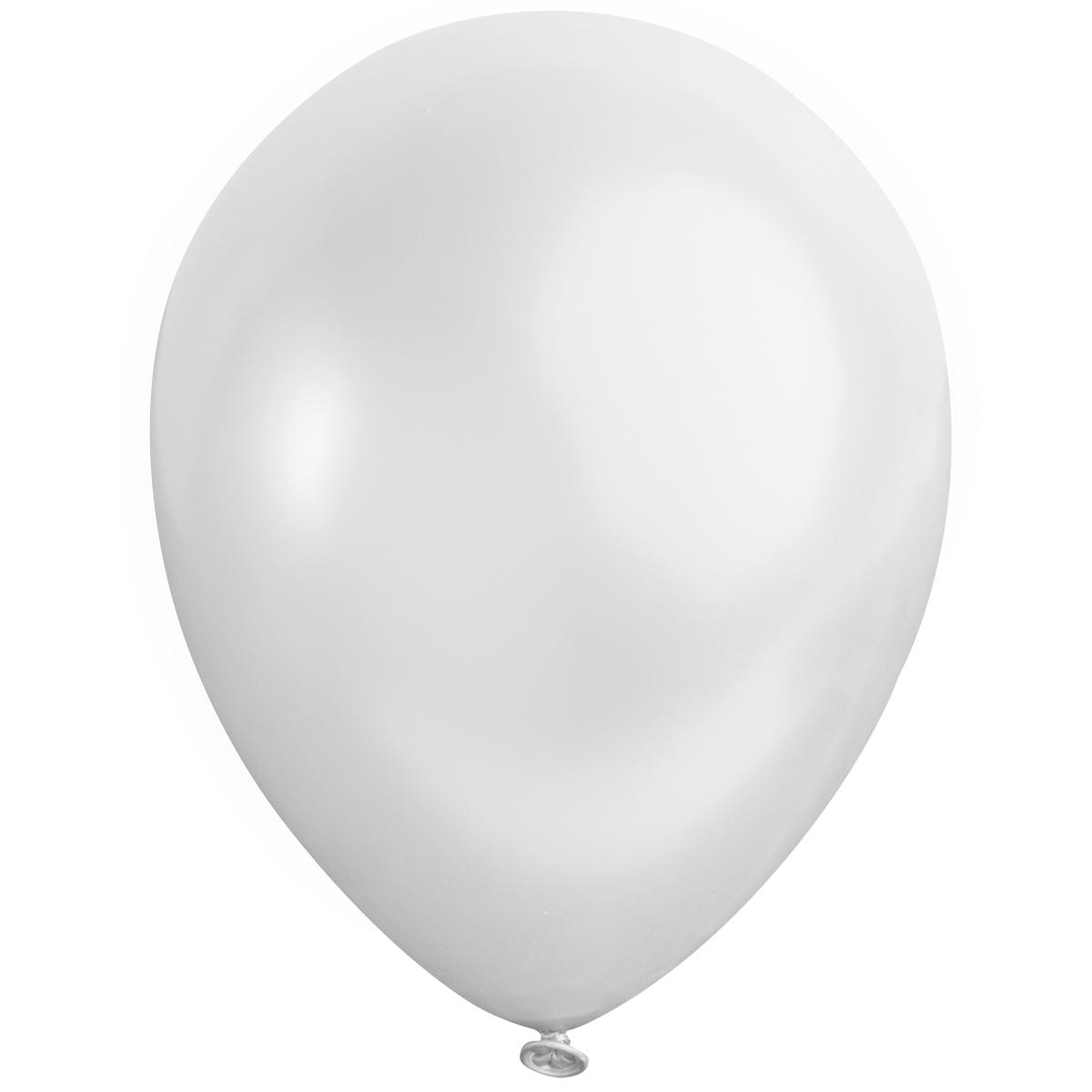 Ballong lösvikt satin, Vit
