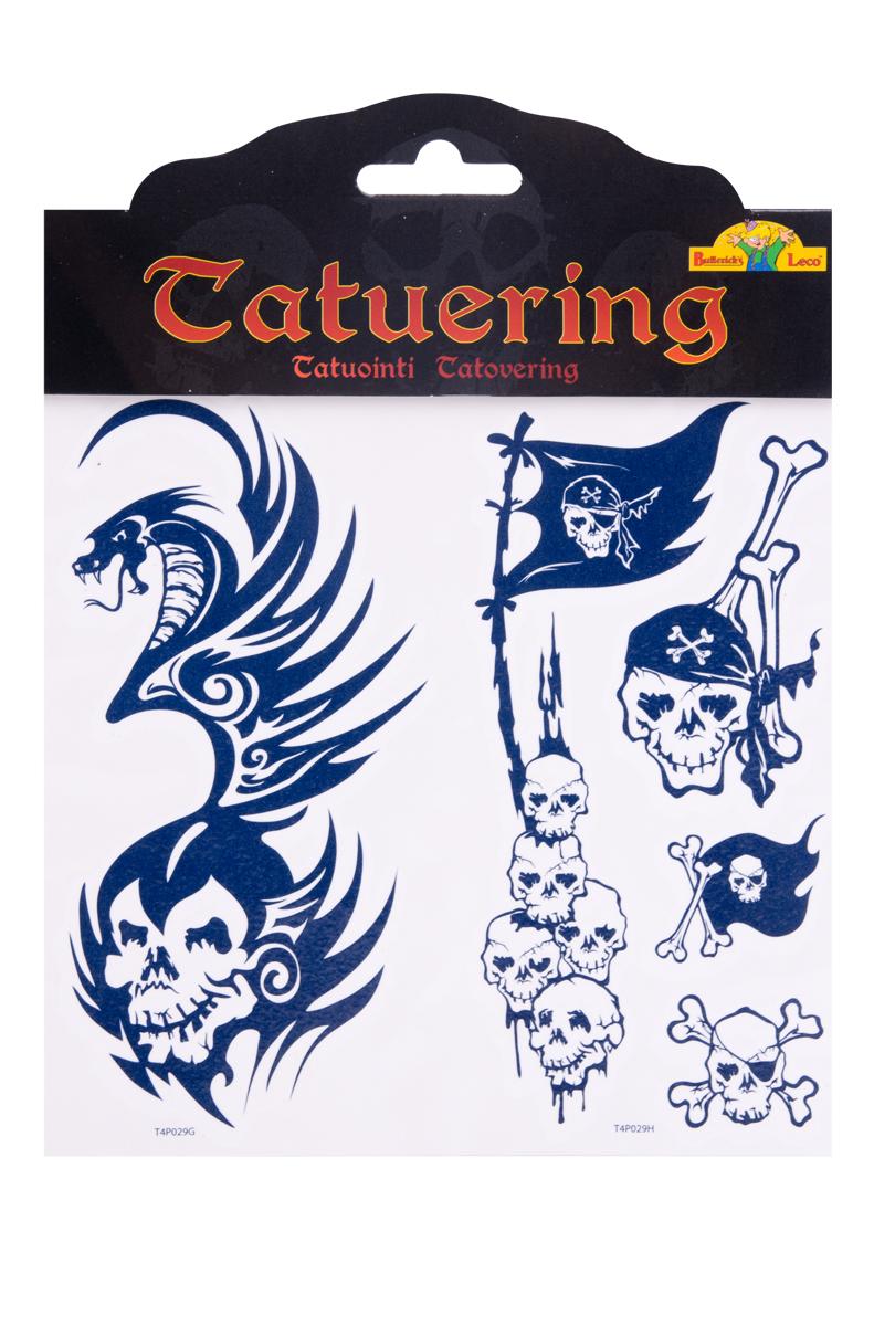 Tatuering skräck, piratflagga