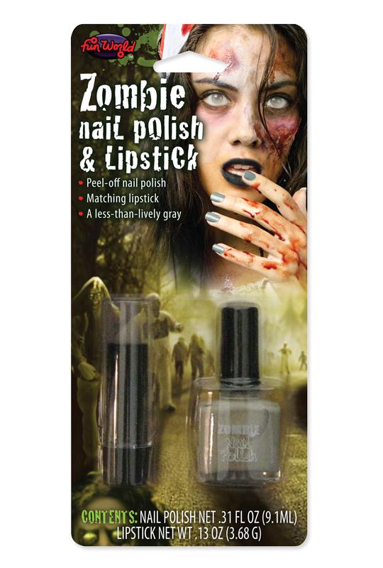 Zombie, nagel och läppstift