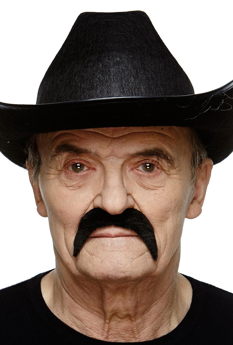 Mustasch mex, svart smal