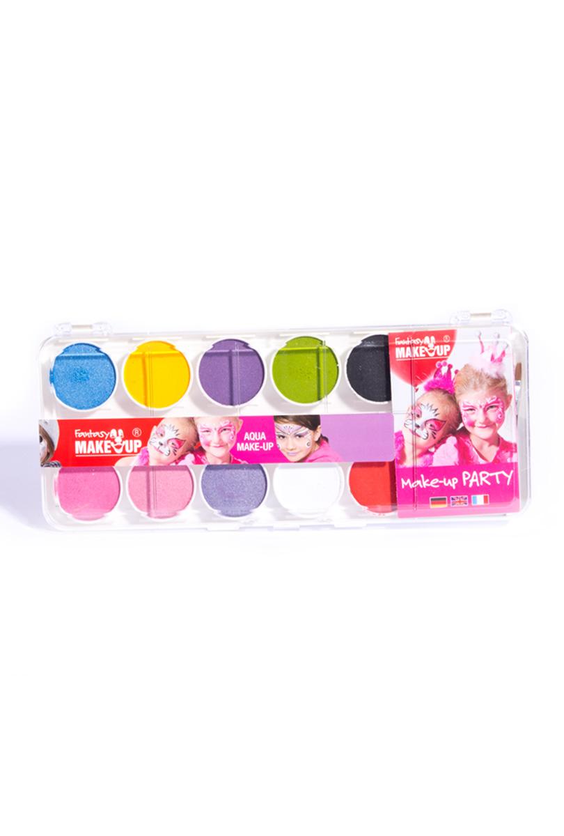 Aqua make-up, 10 färger