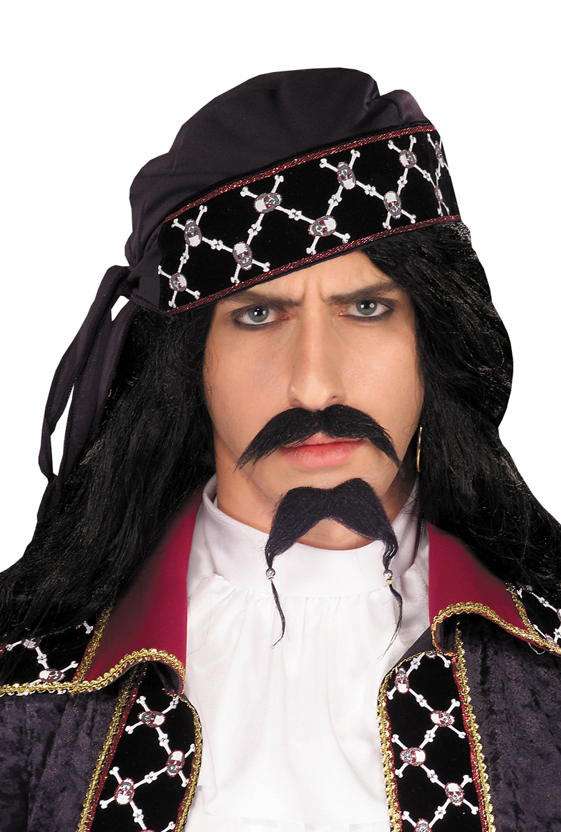 Piratskägg & mustasch, svart