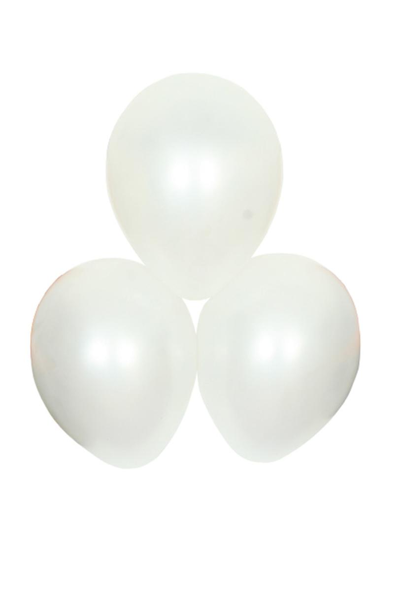 Satinballonger, vita 6 st