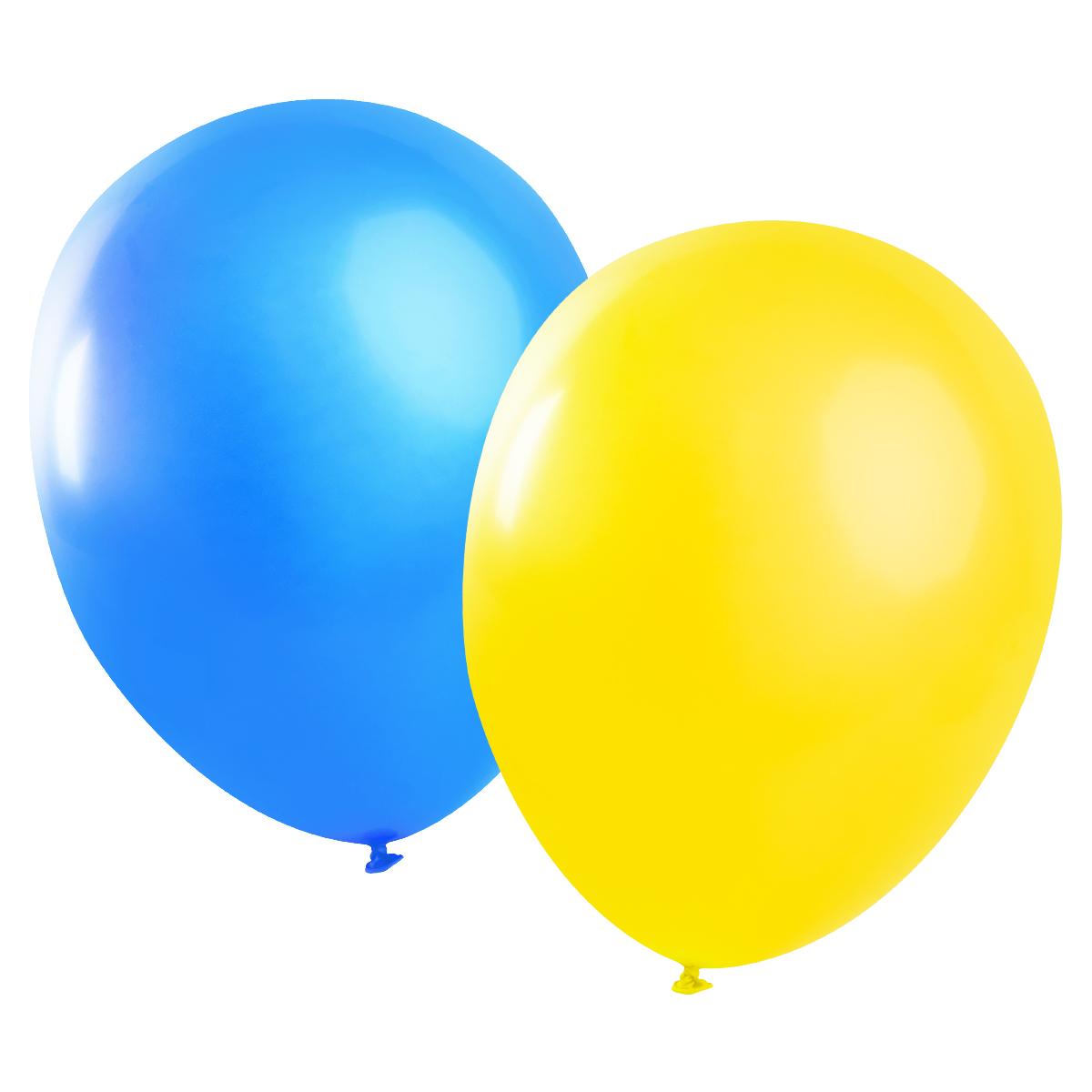 Blå och gula ballonger, 10 st