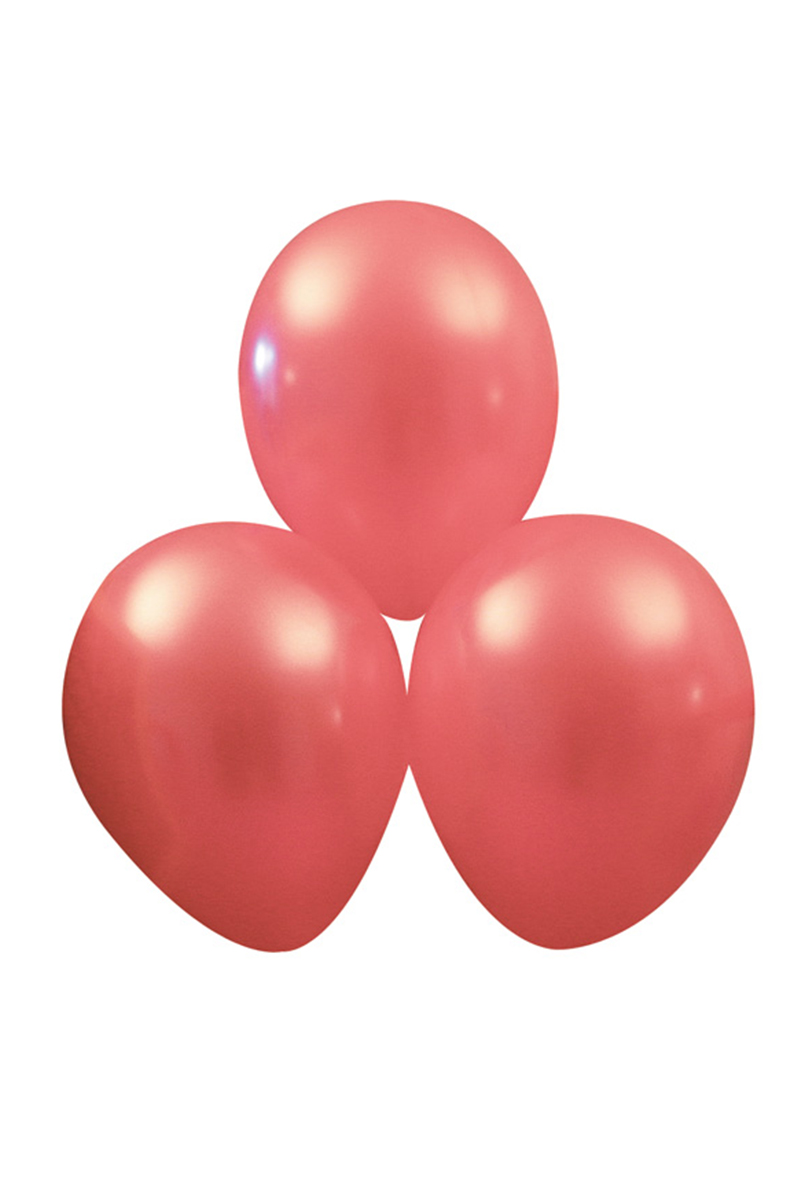 Metallic ballonger, rosa 10 st