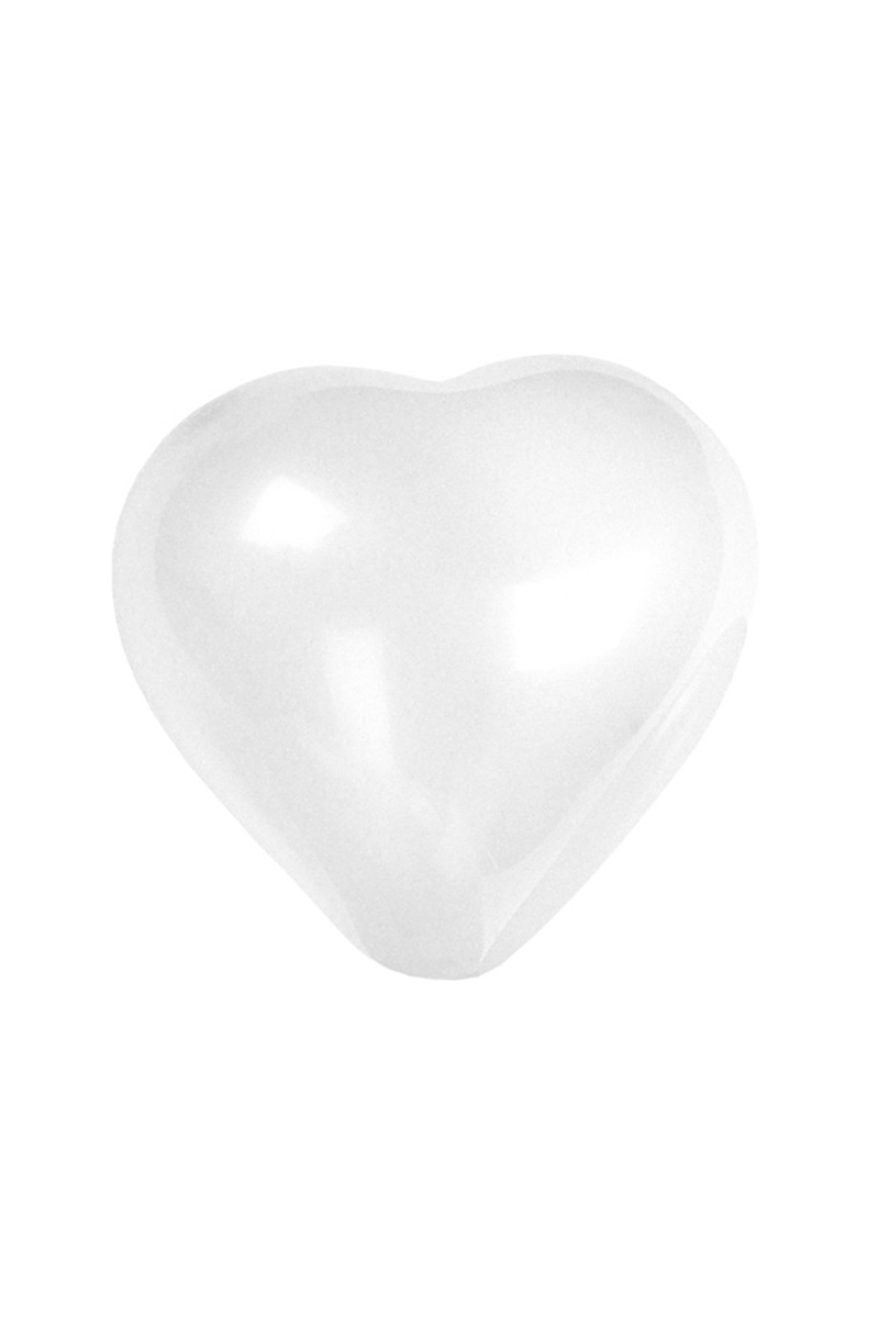 Vita hjärtballonger, 6 st