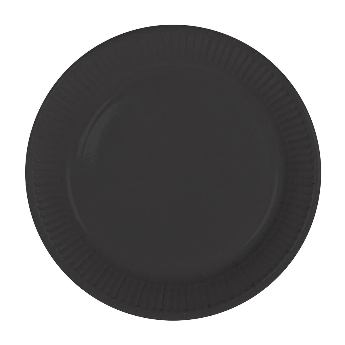 Tallrik, svart 8st
