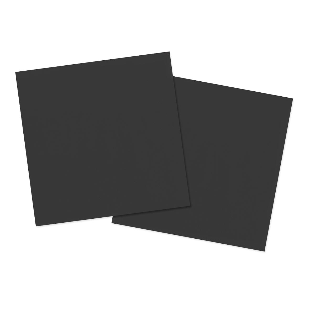Servetter, svart 20st