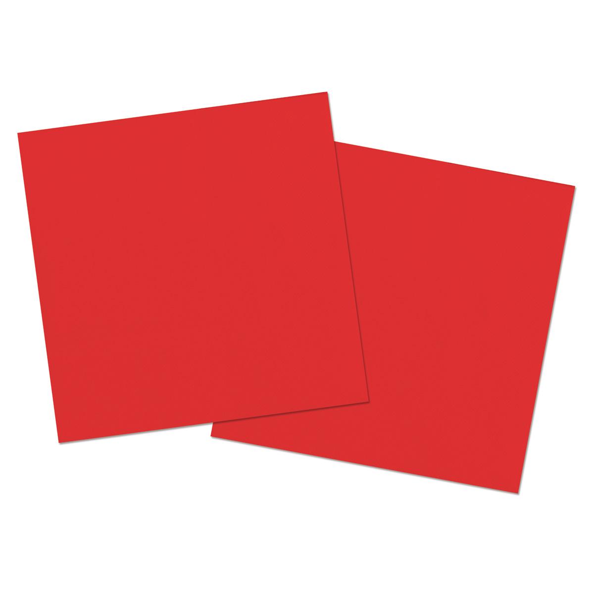 Servetter, röd, 20st