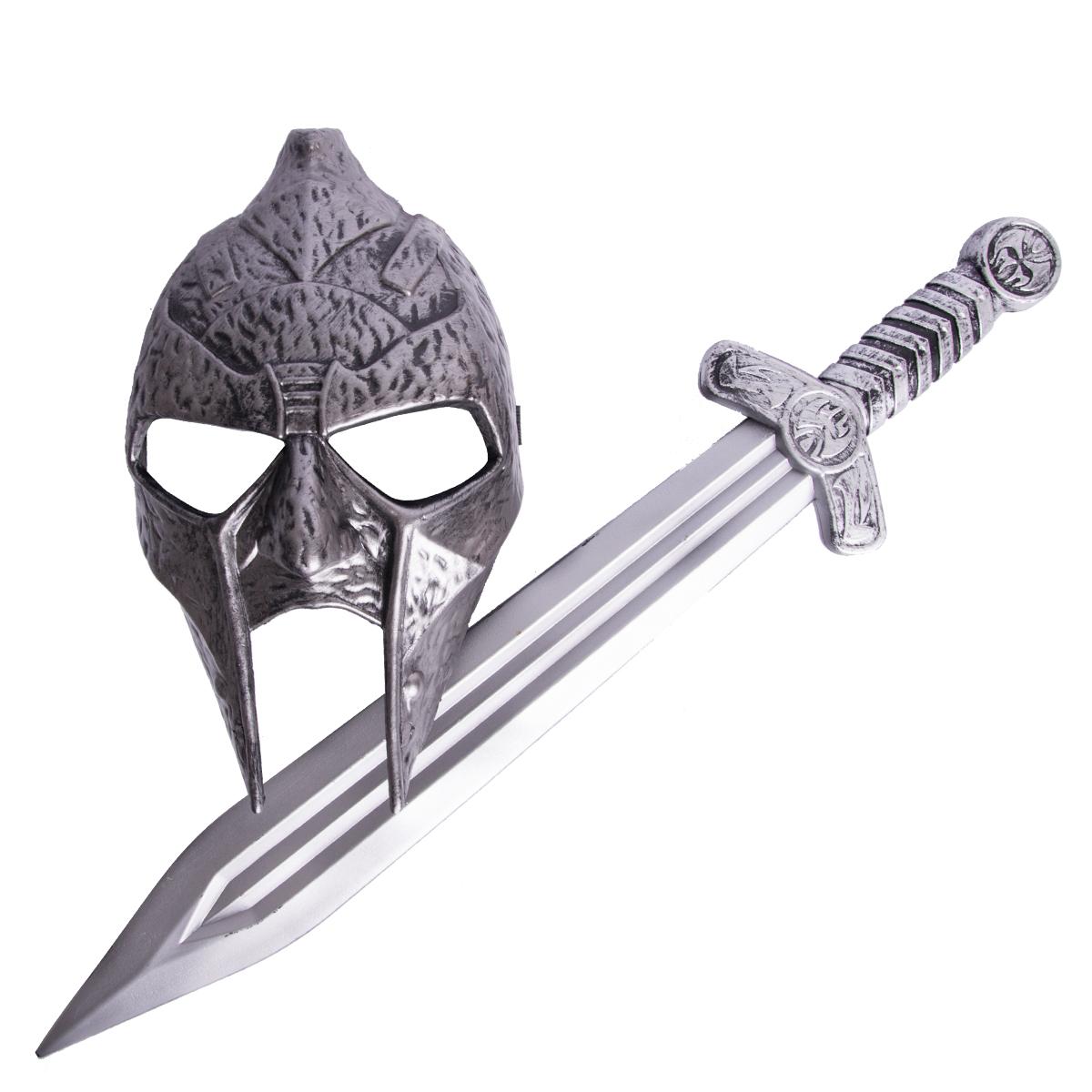 Gladiator, svärd och mask