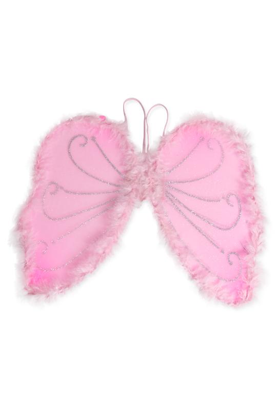 Fjärilsvingar med rosa dun, barn