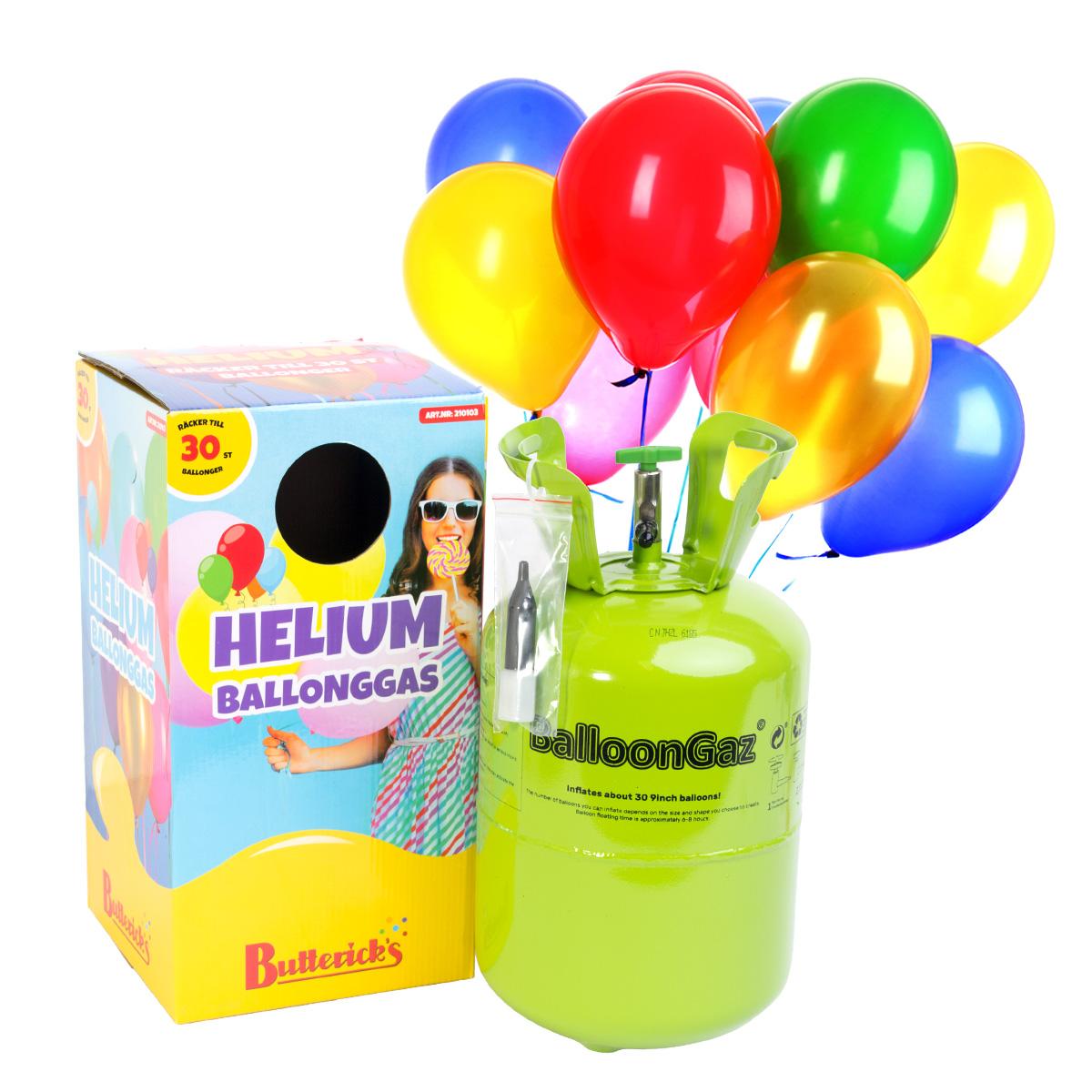 Helium, 30 ballonger
