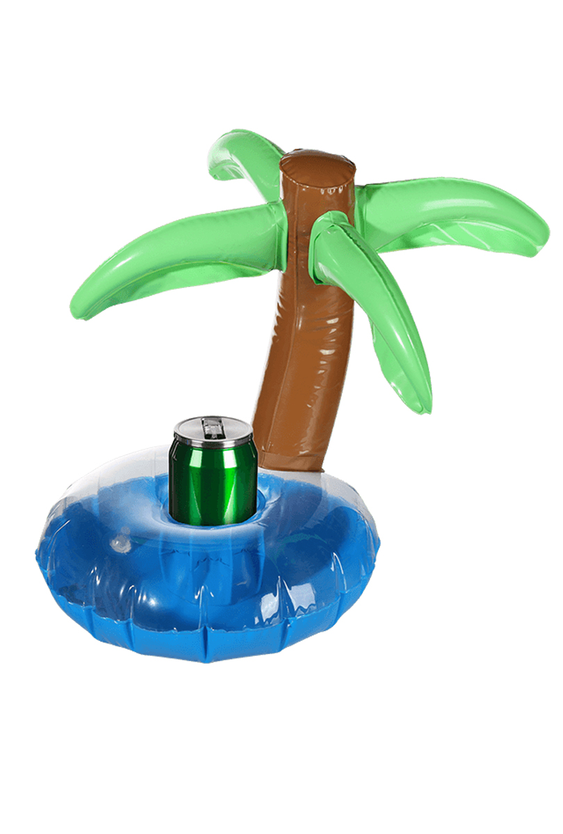 Uppblåsbar, flytande dryckeshållare palm