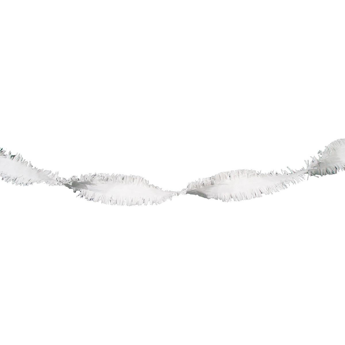 Girlang kräppapper, vit