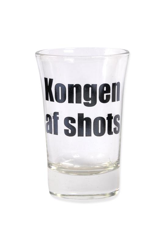 """Snapsglas DK """"Kongen af shots"""""""