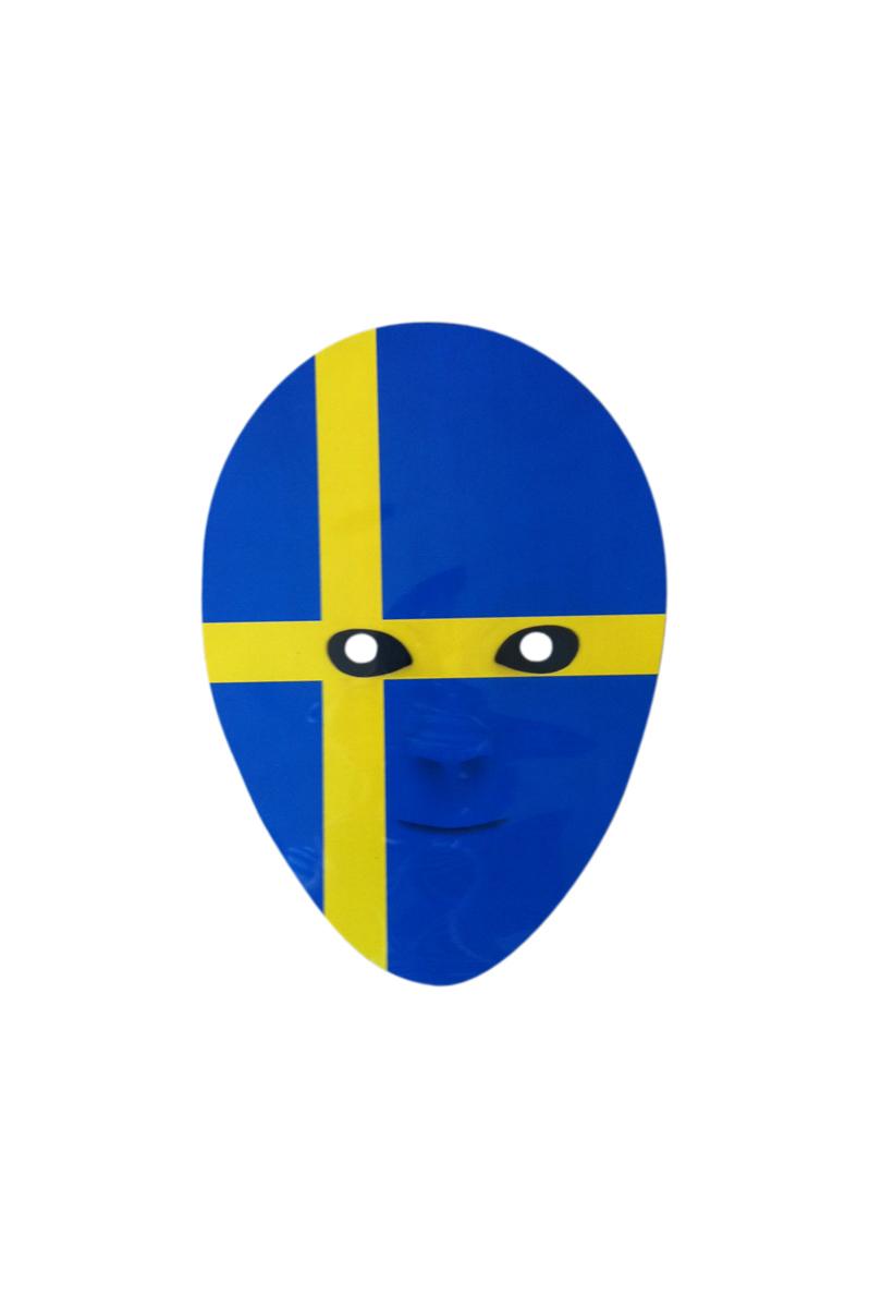 Pappmask, svenska flaggan