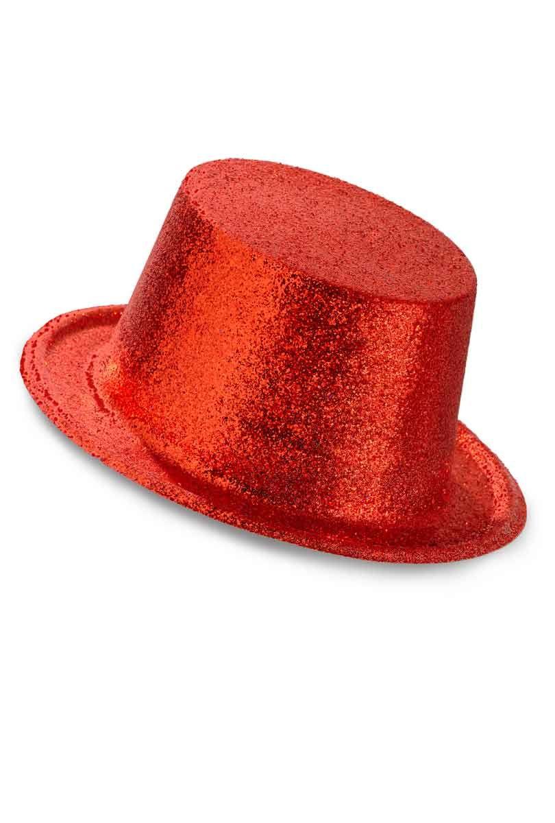 Hatt, rödglittrig