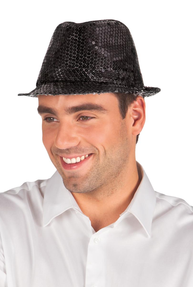 Hatt popstar, svart paljett