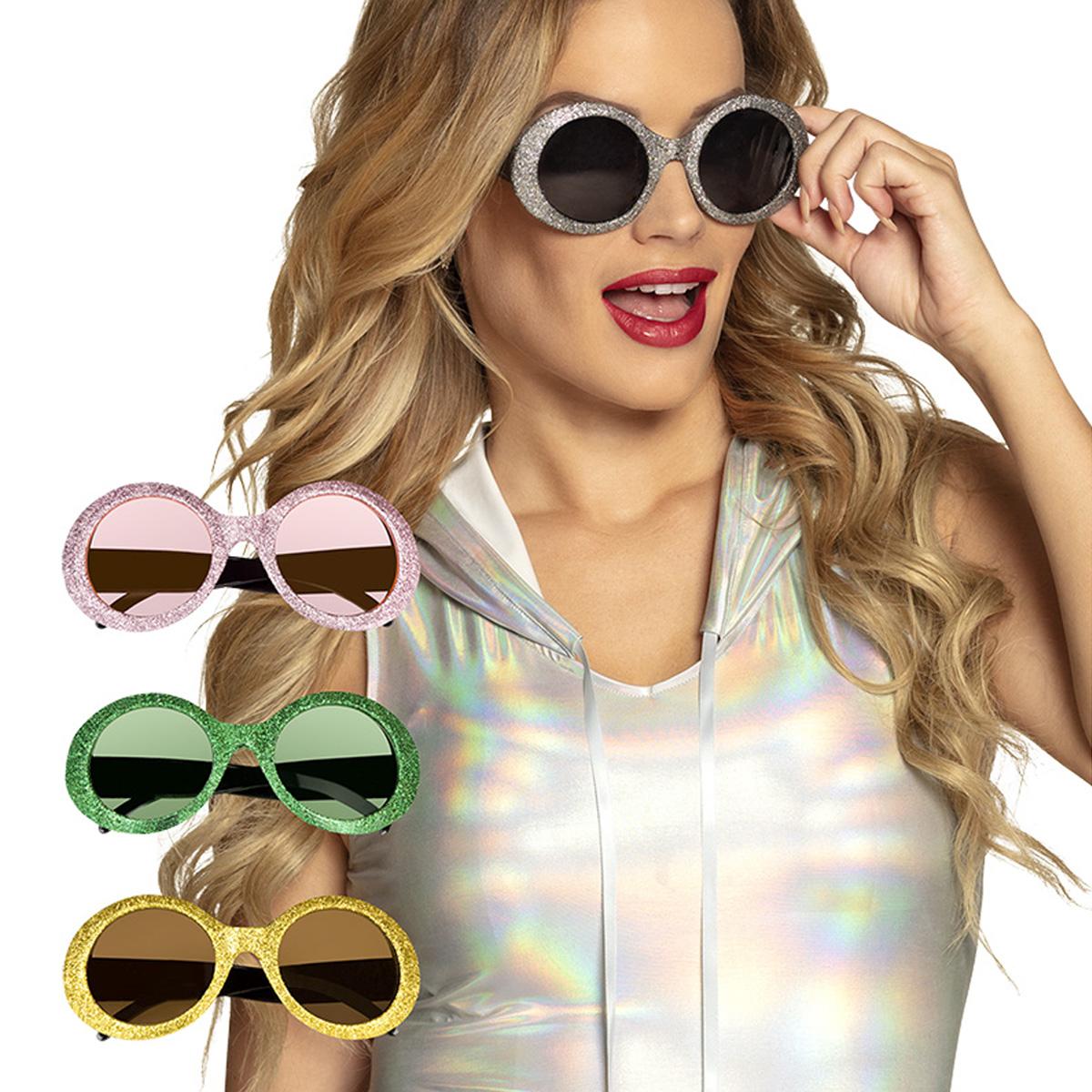 Glasögon, runda glitter