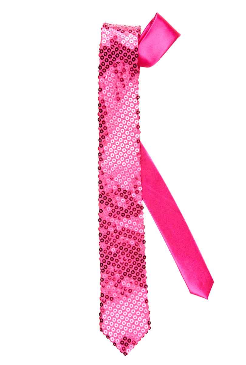 Slips med rosa paljetter