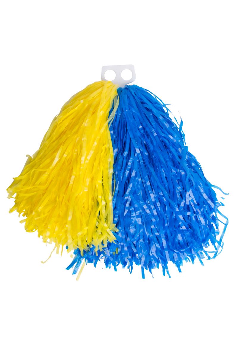Pom Pom, blå och gul