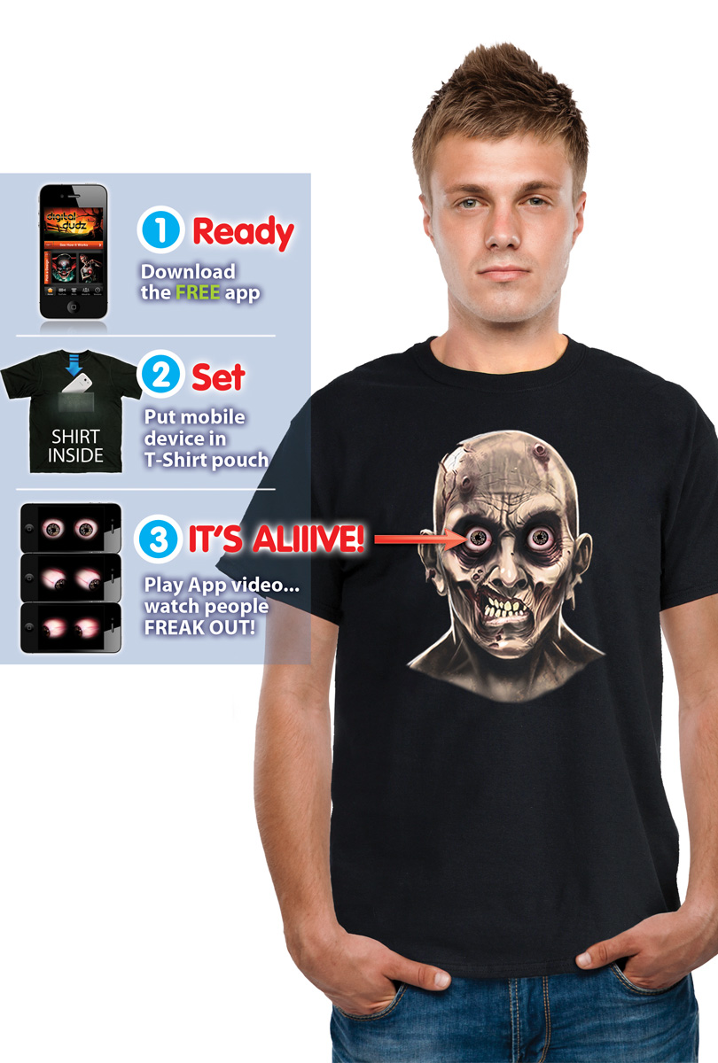 Digital Budz t-shirt, zombie