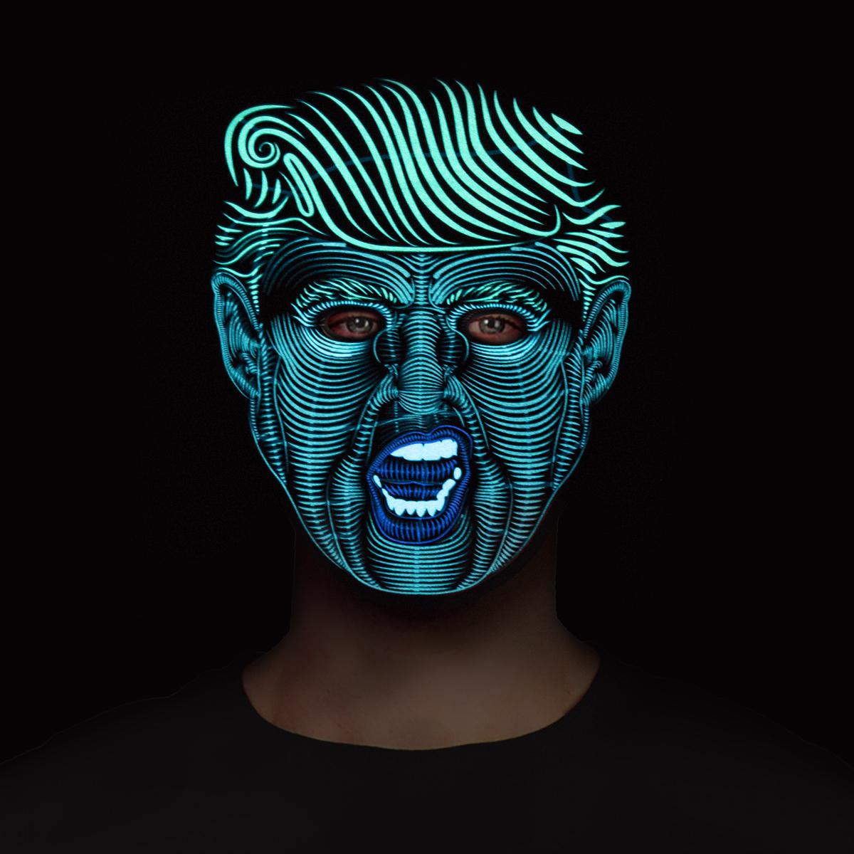 Led-mask  Trump
