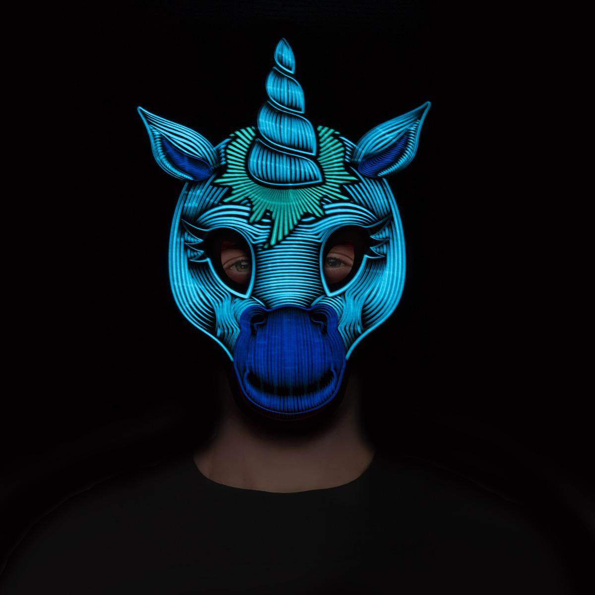 Led-mask  enhörning