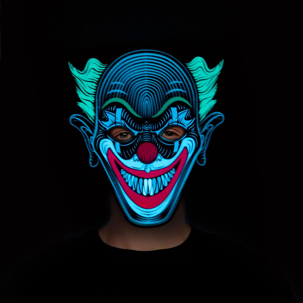 Led-mask  clown