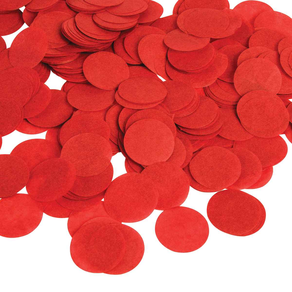 Konfetti, röd papper