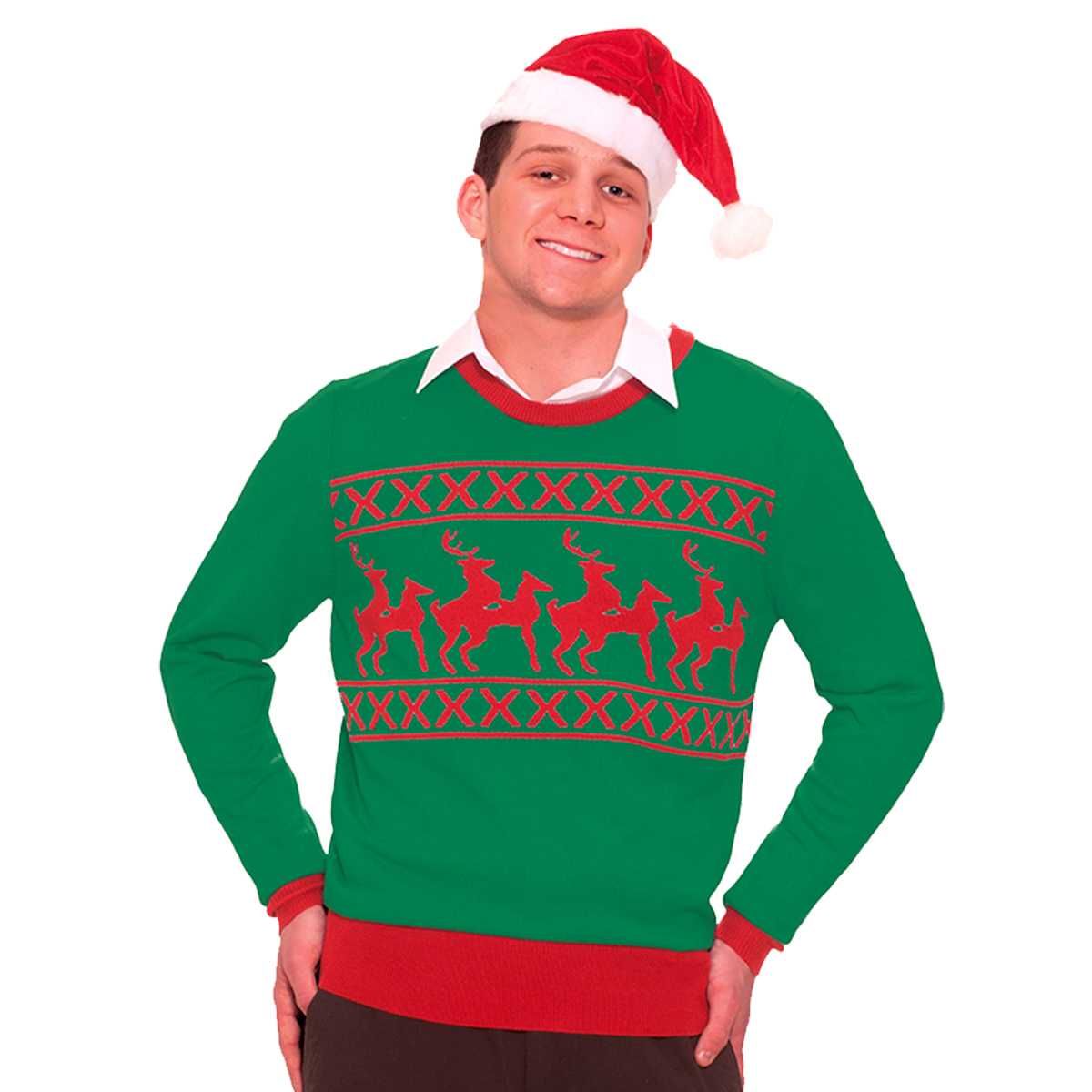 Jultröja  lekande renar-XL