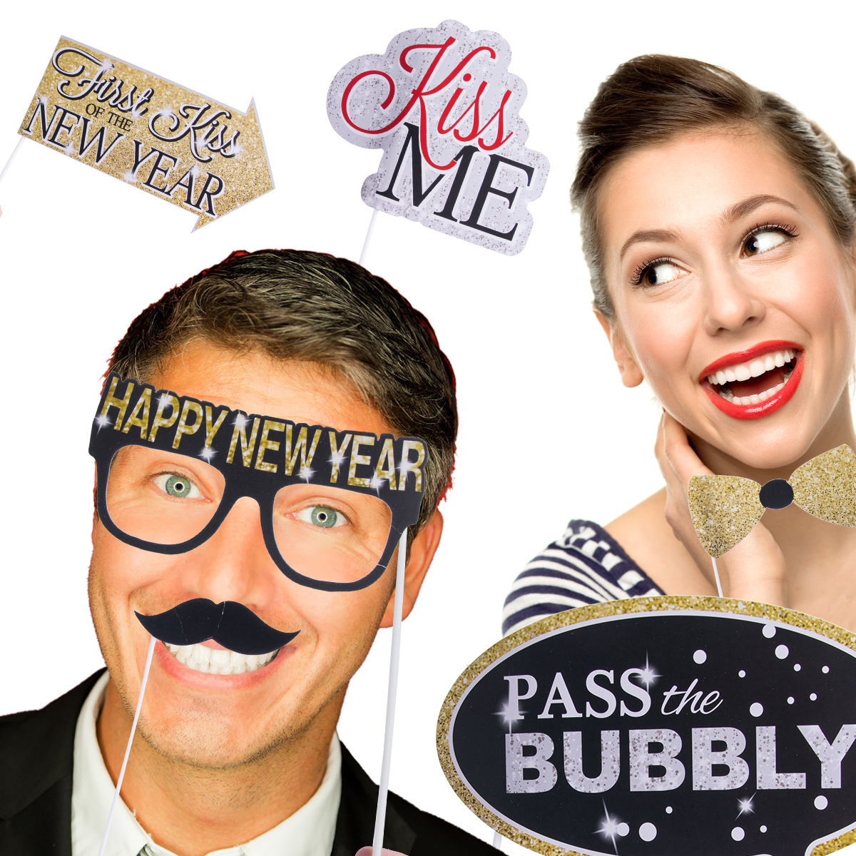 Photo booth prop, New Year