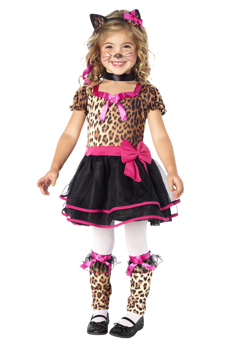 Dräkt  Leopardklänning barn M