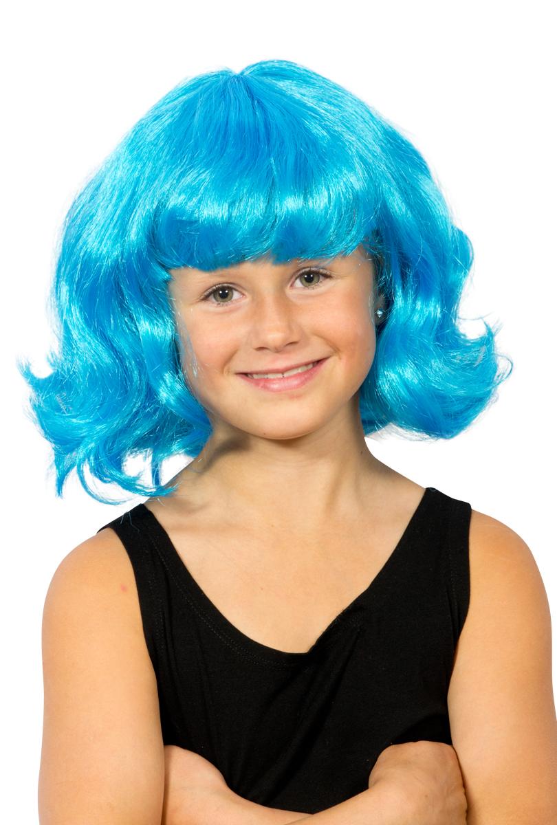 Barnperuk, blå