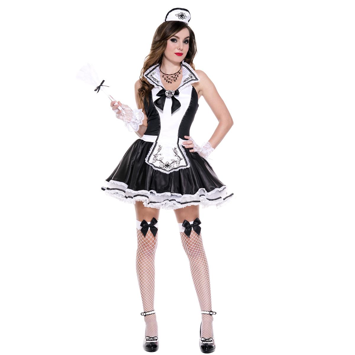 Dräkt, French Maid med rosett