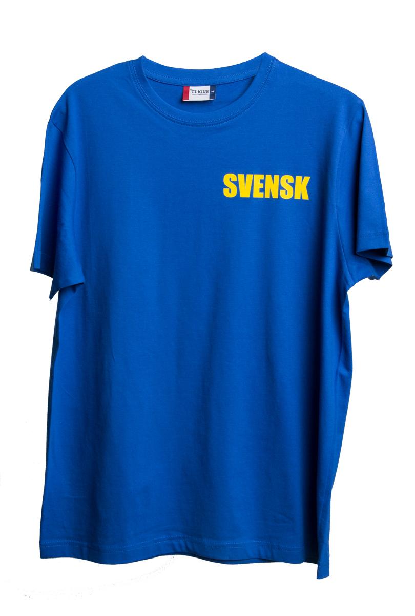 T-shirt, Svensk