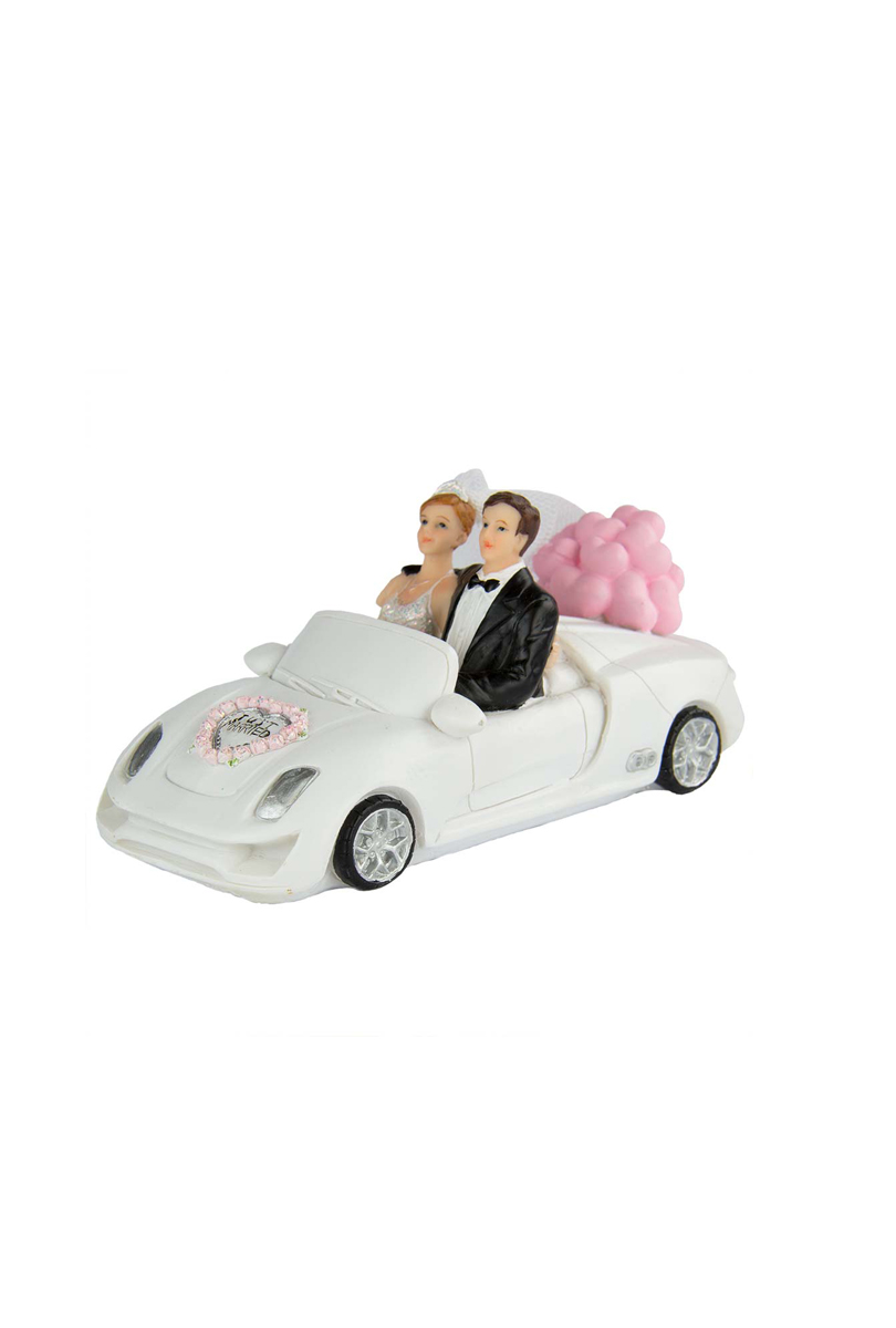 Brudpar i bil