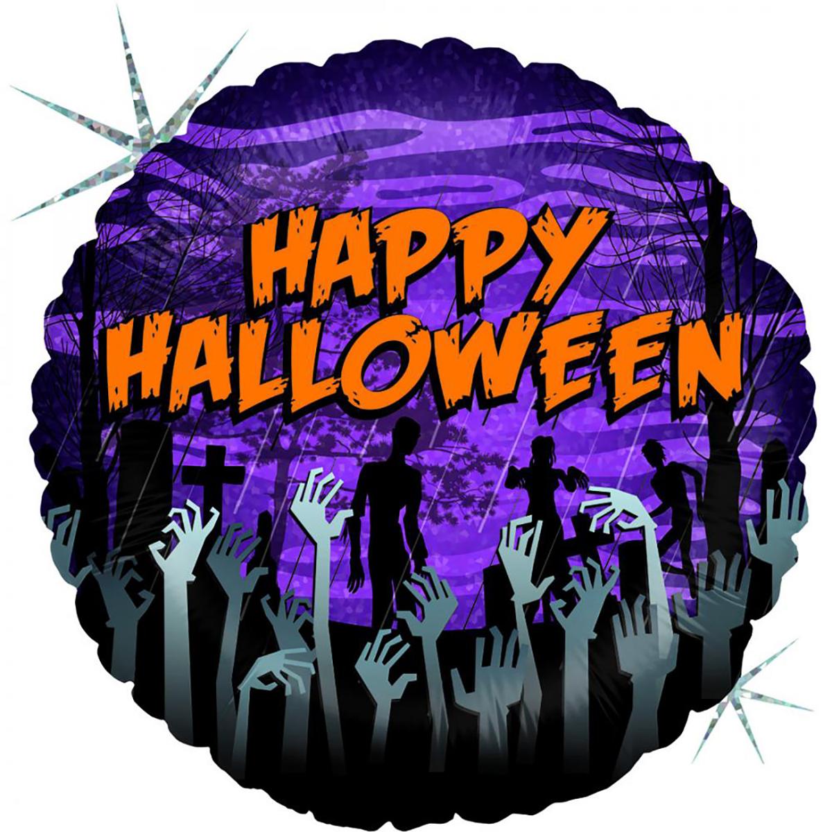 Folieballong, zombie halloween 45cm