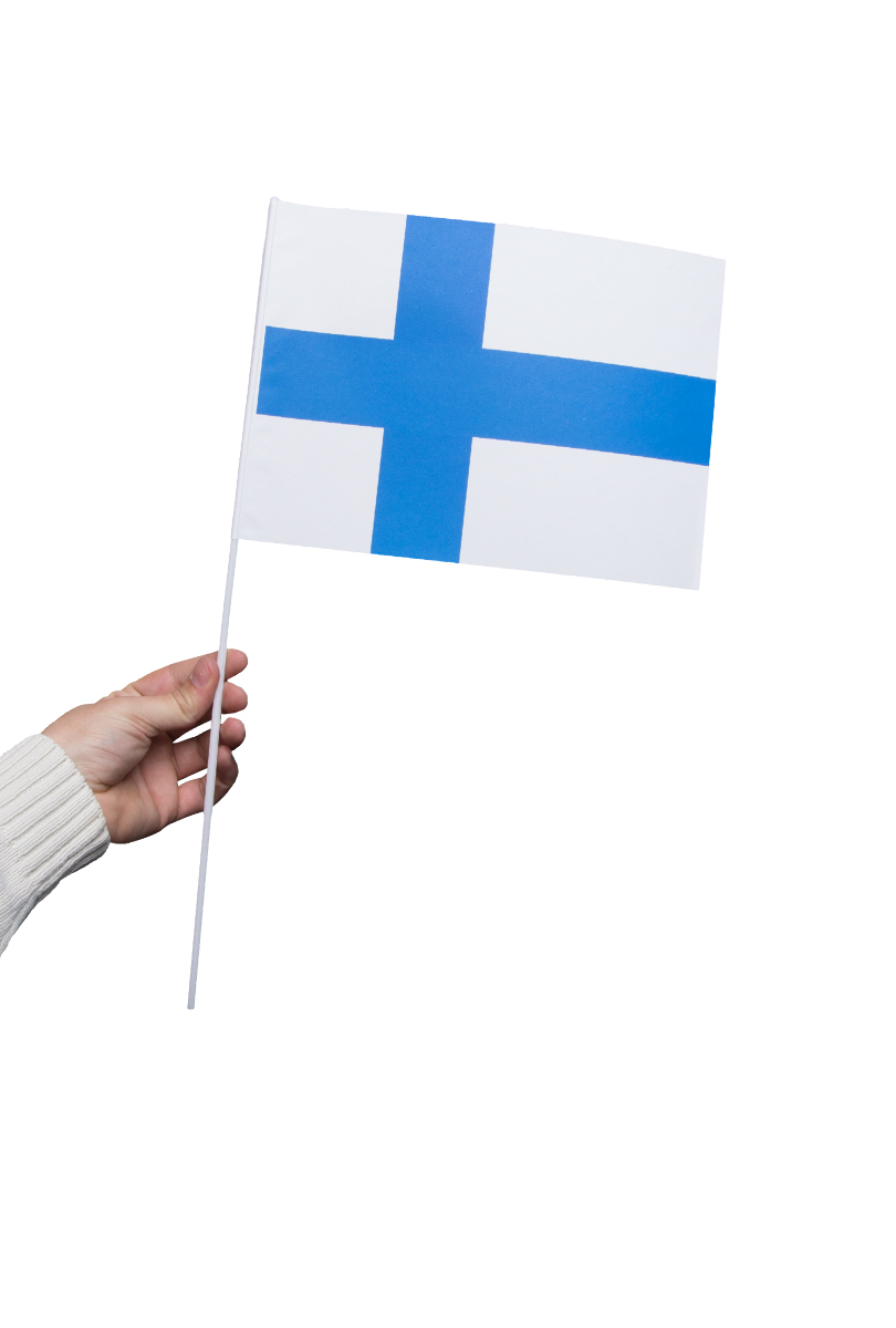 Pappersflagga, Finland