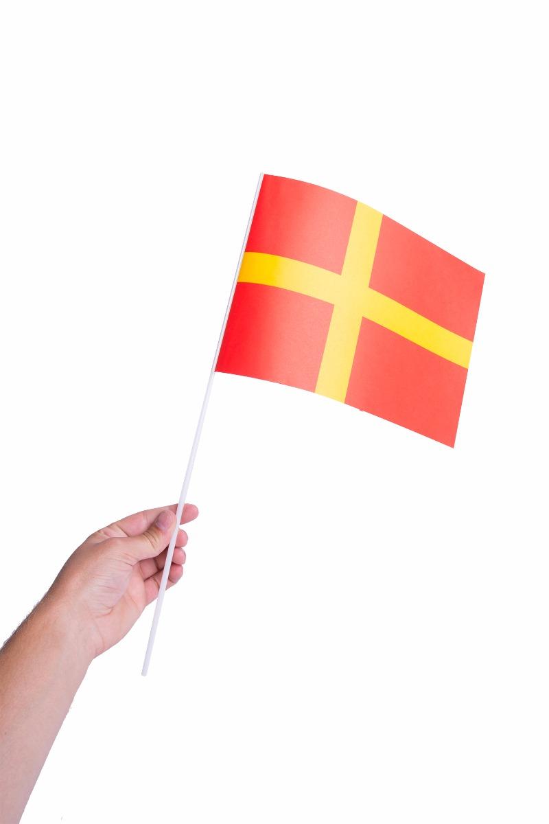 Pappersflagga, Skåne