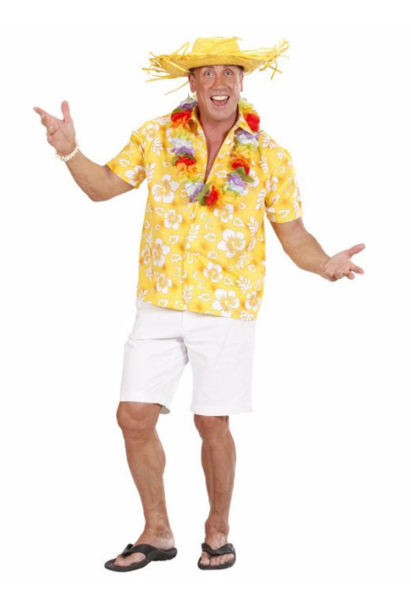Hawaiiskjorta  gul