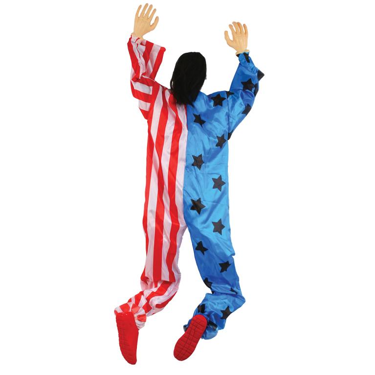 Prop, klättrande clown röd/blå